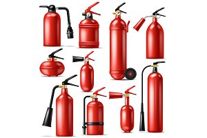 Fire extinguisher vector protection