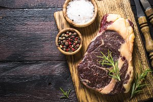 Beef steak ribeye with herbs and