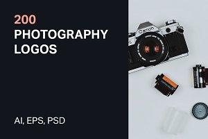 200 Photography Logos