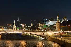 Panoramic view of Moscow Kremlin.