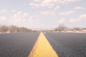 close up road