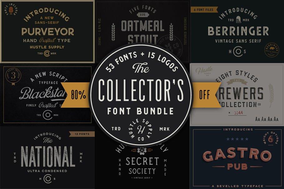 Collector's Font Bundle - 53 Fonts!
