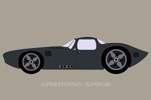 retro classic supercar