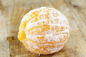 peeled orange mandarin