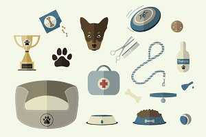Dog World Vector Elements