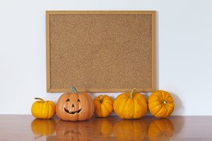 Halloween empty photo frame