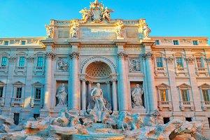 Rome, Famous Trevi Fountain