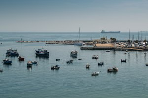 Fishing boats in Cascais, Portugal