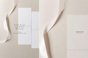 Nude Tones 5x7 Card Set Mockup