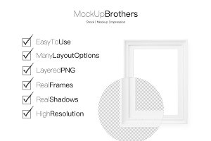 white frame set mockup mock up