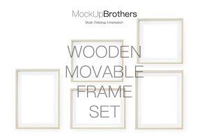 Bright wood frame mockup mock up
