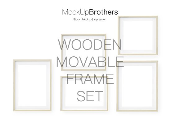 Bright wood frame mockup mock up