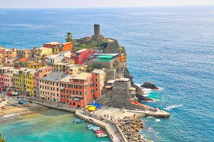 Italy, Beautiful Vernazza streets
