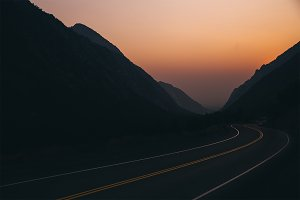 Sunset highway in Utah