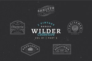 5 Vintage Badge Logos Vol 01 Part 3