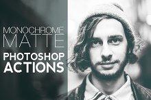 Monochrome Matte Photoshop Actions