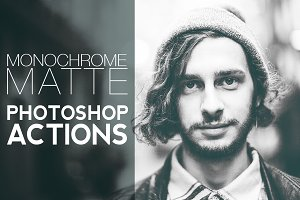 Monochrome Matte Photoshop Actions