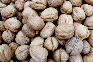Walnuts at market to sell