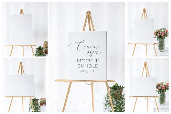 Elegant Wedding Sign Mockup Bundle