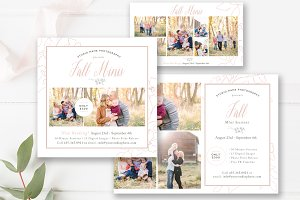 Fall Mini Session Marketing Set