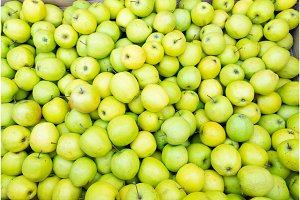 apples on market