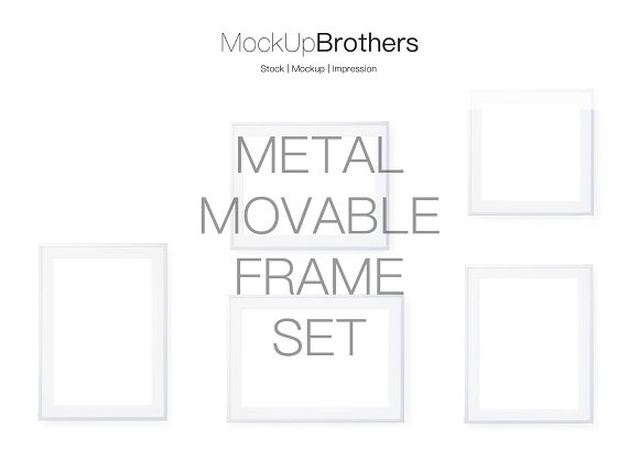Metal frame set mockup movable