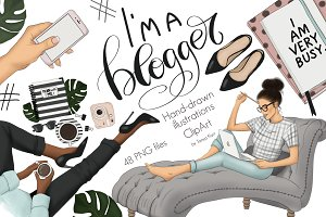 I Am A Blogger Graphic Design Kit