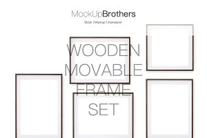 Wood movable frame mockup