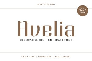 Avelia - Decorative Typeface