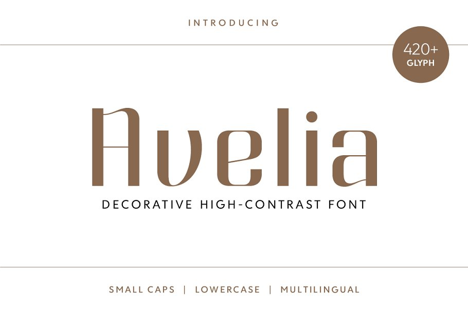 Best Avelia - Decorative Typeface Vector