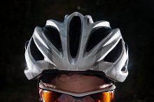 Cyclist portrait with flash light