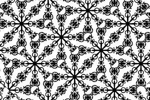 Black and White Ornate Seamless Patt