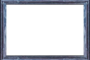 White Landscape Frame With Marble Bl