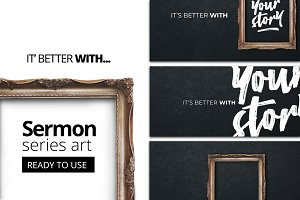 It's better with you - sermon art