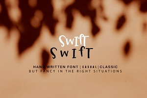 Swift French Marker Font + Squiggles