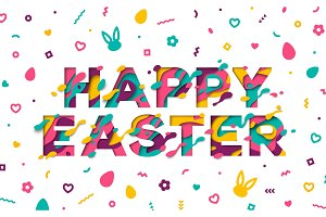 Easter typography design