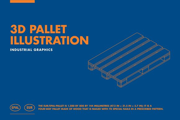 3D PALLET ILLUSTRATION in Illustrations - product preview 1