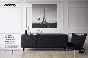 Sideboard Canvas Print Mockup
