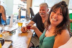Friends Enjoying Glasses of Beer