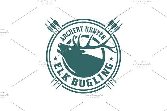 Elk Bugling Archery Hunter