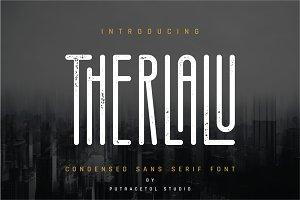 Therlalu - Condensed Sans Serif Font