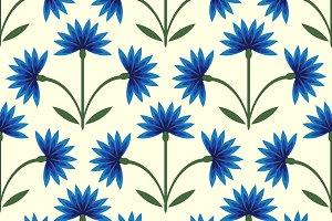 Cornflowers pattern