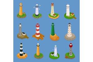Lighthouse vector beacon lighter