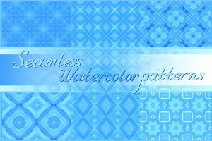 20 seamless watercolor backgrounds