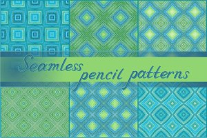 Seamless pencil patterns