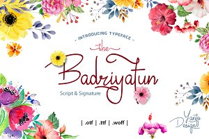 Badriyatun // Luxury Signature Font