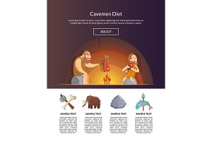 Stone Age Family. Vector cartoon