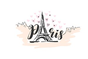 Hand drawn Paris illustration