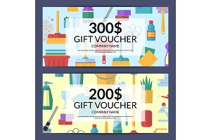 Vector cleaning icon discount. Gift