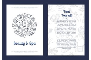 Spa sketch label. Vector hand drawn